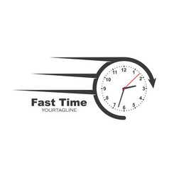 Fast in time logo icon design vector