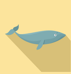 finback whale icon flat style vector image