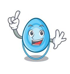 Finger oxygen mask mascot cartoon vector