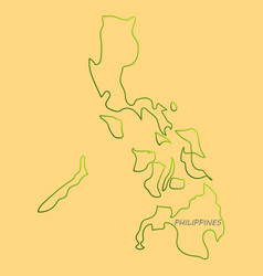 Flag map of philippines vector