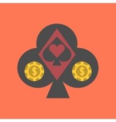 flat icon on stylish background logotype poker vector image