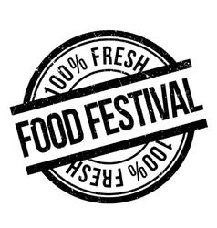 Food festival stamp vector image