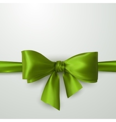green bow and ribbon vector image