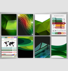 Green creative backgrounds and abstract concept vector