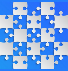 grey puzzle pieces blue - jigsaw field chess vector image