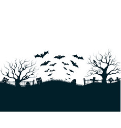 Halloween night background poster vector
