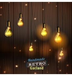 handmade lighting garland vector image