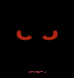 Happy halloween mask with red eyes background vector