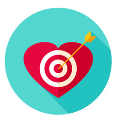 heart target circle icon vector image