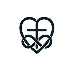 Immortal love of god conceptual symbol combined vector