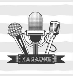 karaoke retro style vector image