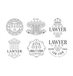 Lawyer office logos retro logo set law firm vector