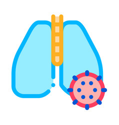 lungs infection icon outline vector image