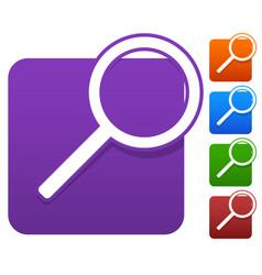 Magnifier icon set vector