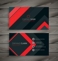minimal dark business card design vector image