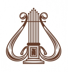 musical instrument harp vector image