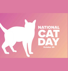 National cat day october holiday concept vector