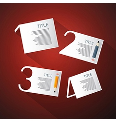 One Two Three Four Steps for Tutorial Infographics vector