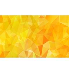 Orange background polygon vector image vector image