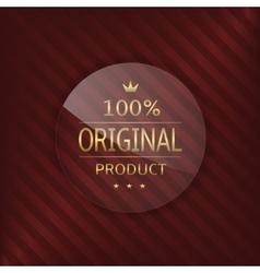 Original product glass label vector