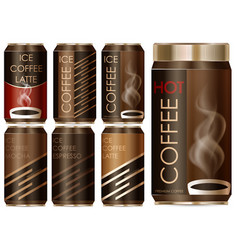 package design for different types of coffee vector image