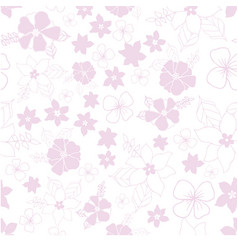 pink and white seamless repeat floral pattern vector image