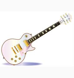 Pink electric guitar vector