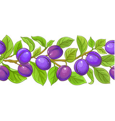 Plum brances pattern on white background vector