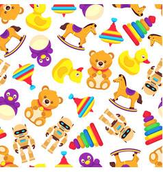 Popular baby toys seamless pattern vector