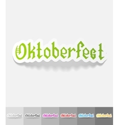 realistic design element Oktoberfest vector image