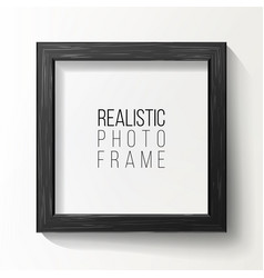 Realistic photo frame on white wall from vector