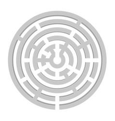Round gray 3d maze vector