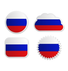 Russia flag labels vector image
