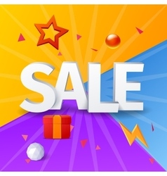 sale banner with elements vector image