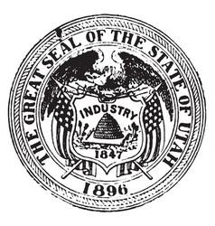 Seal state utah 1904 vintage vector