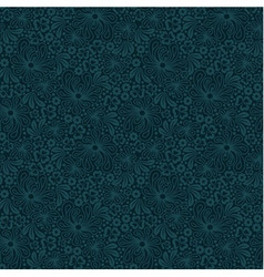 Seamless blue lace pattern vector image