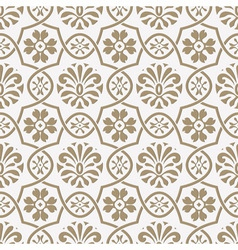 Seamless paper cut floral pattern vector