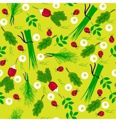 Seamless vegetables garden radish vector image