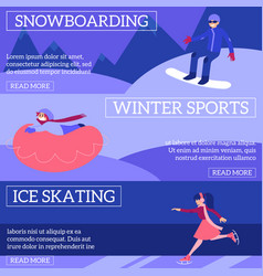 set of winter sport and active vector image