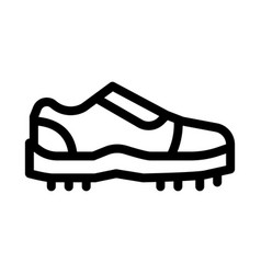 Sneakers for cricket icon outline vector