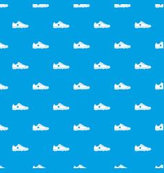 soccer shoe pattern seamless blue vector image