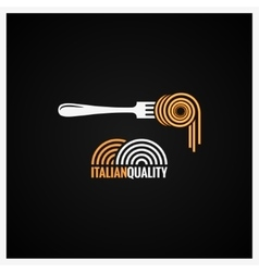 Spaghetti Pasta On Fork Background vector
