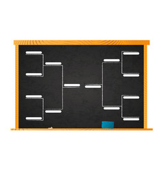 Sport tournament bracket template for 8 teams on vector