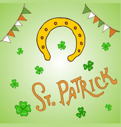 st patrick s day holiday greeting card vector image