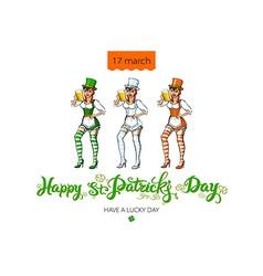 St Patricks Day Beer Girl vector