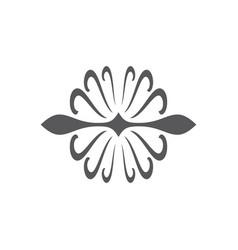Swirl round art black logo vector