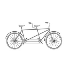 Tandem bikepleasure bicycle for two double vector