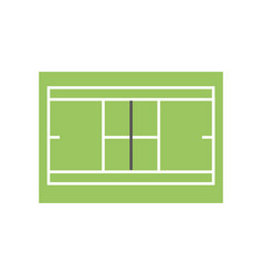 Tennis field symbol vector