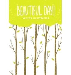 Trees card vector