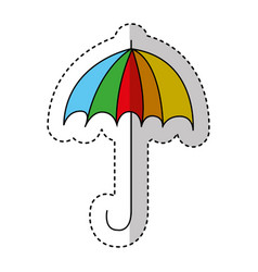 umbrella drawing isolated icon vector image
